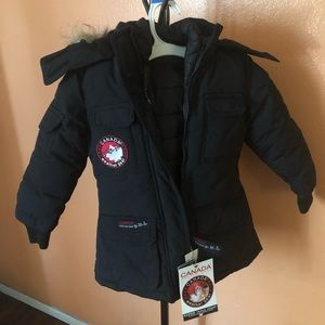 Canada goose parka snow owl toddler jacket